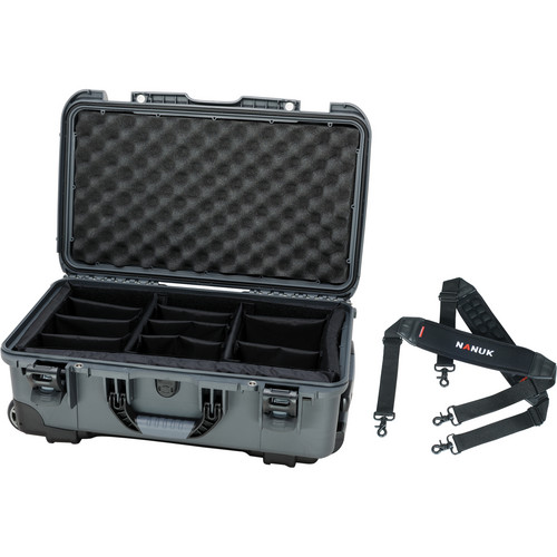 Nanuk Protective 935 Case with Padded Dividers & Shoulder Strap (Graphite)
