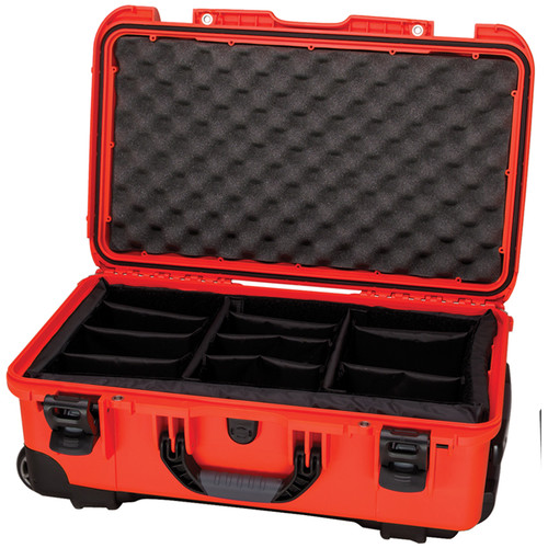 Nanuk Protective 935 Case with Padded Dividers & Padlock (Orange)