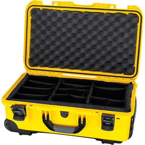 Nanuk Protective 935 Case with Padded Dividers & Padlock (Yellow)