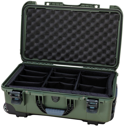 Nanuk Protective 935 Case with Padded Dividers & Padlock (Olive)