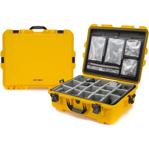 Nanuk 945 Case with Dividers and Lid Organizer (Yellow)