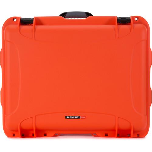 Nanuk 950 Rolling Hard Case (Orange, No Foam)