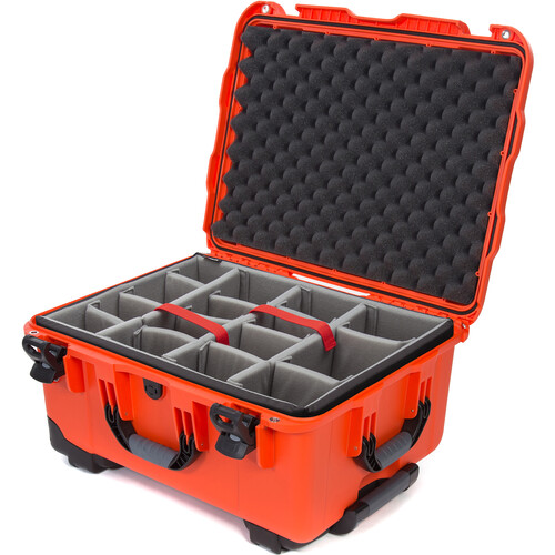 Nanuk 950 Protective Rolling Case with Foam Dividers (Orange)