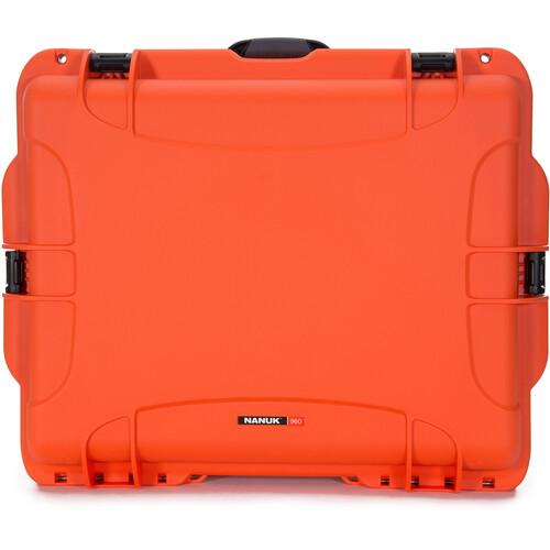 Nanuk 960 Hard Rolling Case without Foam (Orange)