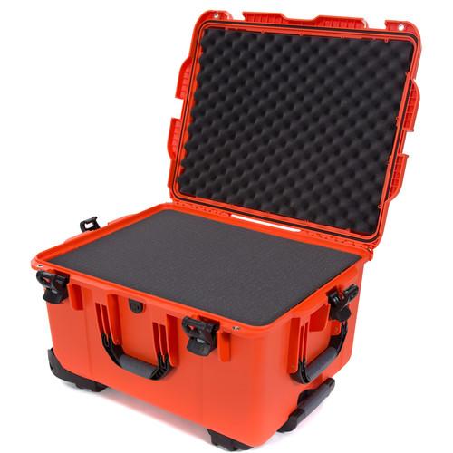 Nanuk 960 Hard Rolling Case with Foam (Orange)