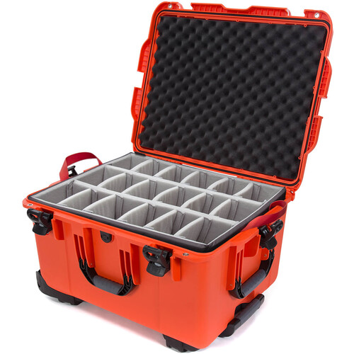 Nanuk 960 Protective Rolling Case with Dividers (Orange)