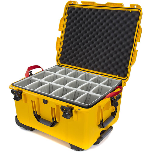 Nanuk 960 Protective Rolling Case with Dividers (Yellow)