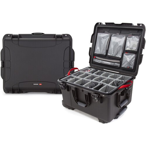 Nanuk 960 Protective Rolling Case with Dividers and Organizer (Black)