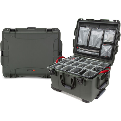 Nanuk 960 Protective Rolling Case with Dividers and Organizer (Olive)
