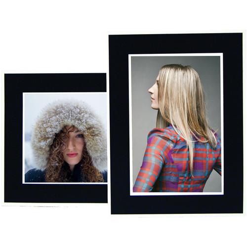 "National Photo Folders Black Panel Display Easel (5 x 7"", 25-Pack)"