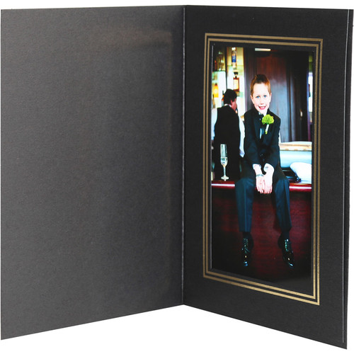 "National Photo Folders Premier Photo Folder (4 x 6"", 25-Pack, Black)"