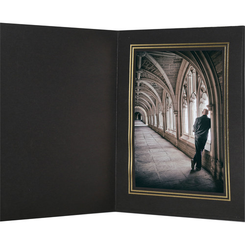 "National Photo Folders Premier Photo Folder (5 x 7"", 25-Pack, Black)"
