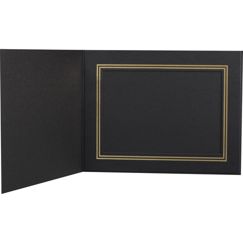 "National Photo Folders Premier Photo Folder (7 x 5"", 25-Pack, Black)"