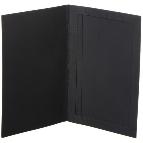 "National Photo Folders Slip-In Photo Folder (4 x 6"", 25-Pack, Black)"