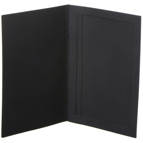"National Photo Folders Slip-In Photo Folder (7 x 5"", 25-Pack, Black)"
