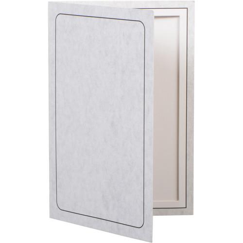 "National Photo Folders Gray Panel Display Easel (5 x 7"", 25-Pack)"