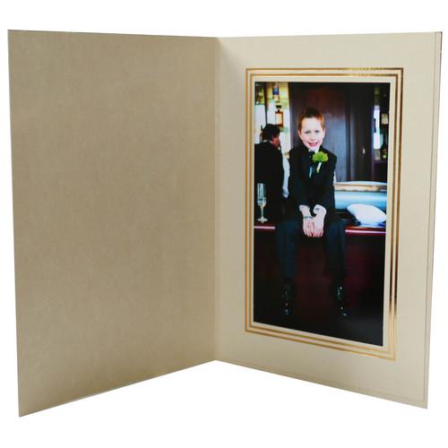 "National Photo Folders Premier Photo Folder (4 x 6"", 25-Pack, Marbled-Pattern Graphite)"