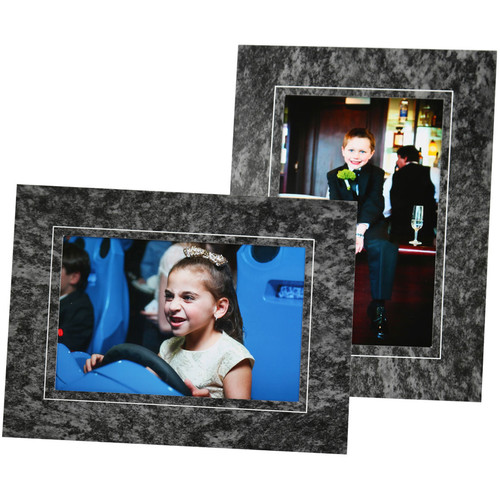 """National Photo Folders Marble Pattern Display Easel (8 x 10"""", 25-Pack)"""