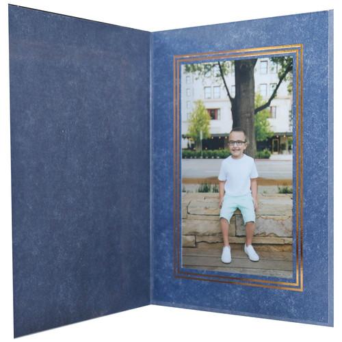 "National Photo Folders Premier Photo Folder (4 x 6"", 25-Pack, Marbled-Pattern Royal Blue)"