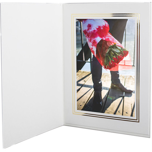 "National Photo Folders Premier Photo Folder (4 x 6"", 25-Pack, White)"
