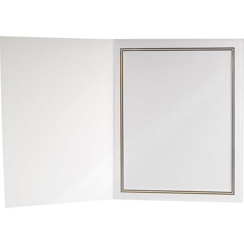 "National Photo Folders Premier Photo Folder (8 x 10"", 25-Pack, White)"