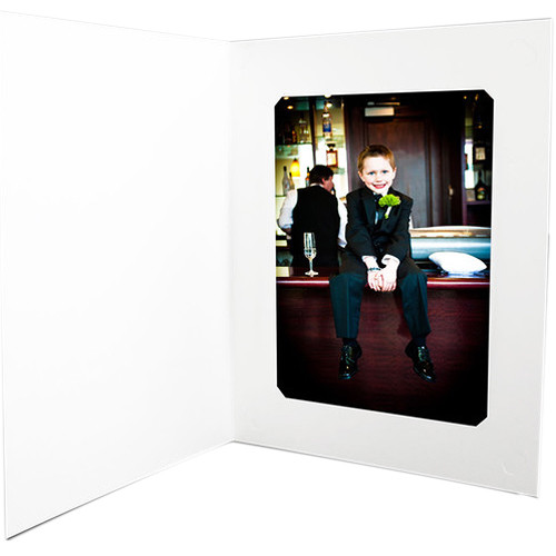 "National Photo Folders Slit-Cut Photo Folder for Prints (4 x 6"" and 5 x 7"", 25-Pack, White)"