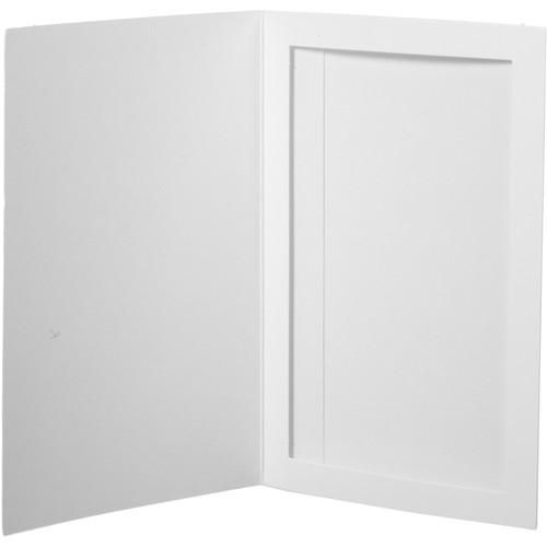 """National Photo Folders Slip-In Photo Folder (4 x 6"""", 25-Pack, White)"""