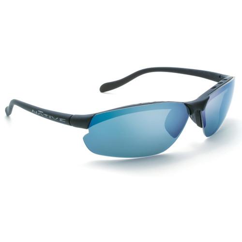 Native Eyewear Dash XP Sunglasses (Asphalt - Blue Reflex Lens)