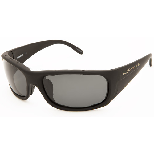 Native Eyewear Bomber Sunglasses (Asphalt - Gray Lens)