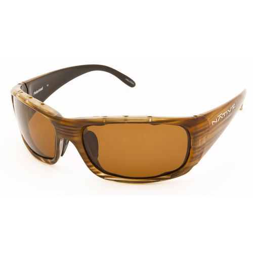 Native Eyewear Bomber Sunglasses (Wood - Brown Lens)