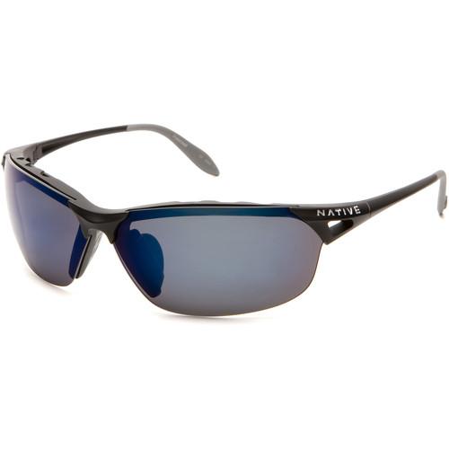 Native Eyewear Vigor Sunglasses (Asphalt - Blue Lens)