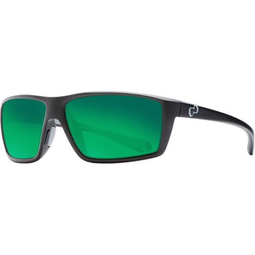 Native Eyewear Sidecar Sunglasses (Asphalt - Green Reflex Lens)