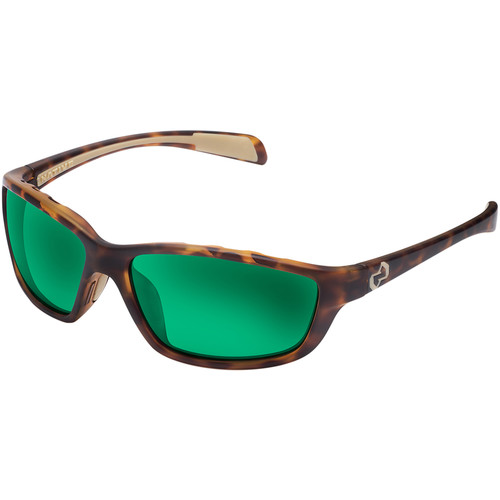 Native Eyewear Kodiak Sunglasses (Desert Tortoise Frame, Green Reflex Lens)