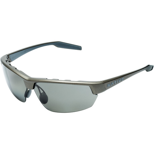Native Eyewear Hardtop Ultra Sunglasses (Charcoal Frame, Gray Lens)