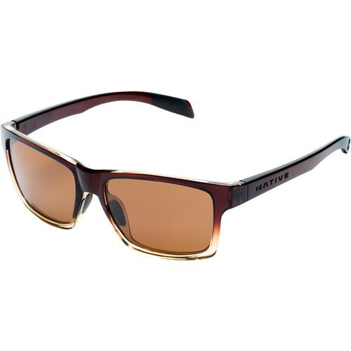 Native Eyewear Flatirons Sunglasses (Stout Fade Frame, Brown Lens)