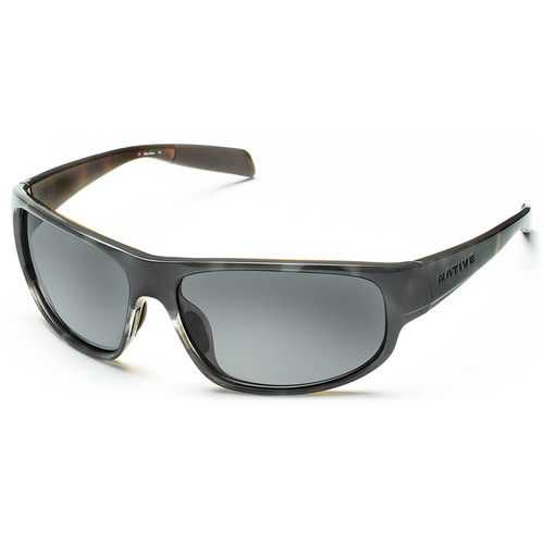 Native Eyewear Crestone Sunglasses (Obsidian/Dark Gray/Light Gray Frame, Gray Lenses)