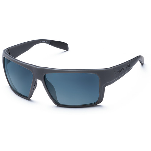 Native Eyewear Eldo Sunglasses (Granite/Asphalt Frame, Blue Reflex Lenses)