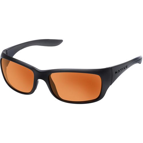 Native Eyewear Kannah Sunglasses (Asphalt Frame, Bronze/Brown Reflex Lens)