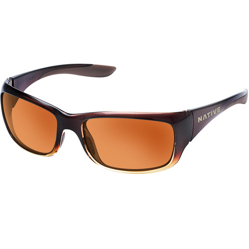 Native Eyewear Kannah Sunglasses (Stout Fade Frame, Brown Lens)