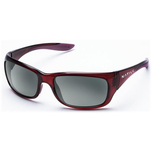 Native Eyewear Kannah Sunglasses (Crimson Frame, Gray Lens)