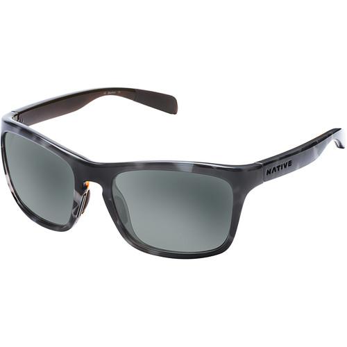 Native Eyewear Penrose Sunglasses (Obsidian/Dark Gray/Light Gray Frame, Gray Lenses)