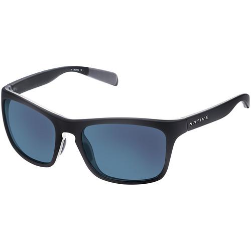 Native Eyewear Penrose Sunglasses (Asphalt/Crystal Frame, Blue/Gray Reflex Lenses)