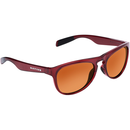 Native Eyewear Sanitas Sunglasses (Crimson Frame, Brown Lenses)