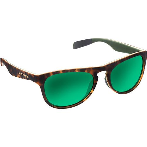 Native Eyewear Sanitas Sunglasses (Desert Tortoise/Yellow/Green Frame, Green/Brown Reflex Lenses)