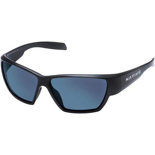 Native Eyewear Wolcott Sunglasses (Asphalt Frame, Blue/Gray Reflex Lenses)