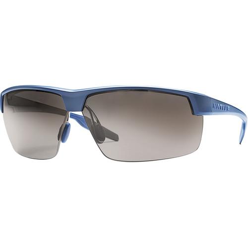 Native Eyewear Hardtop Ultra XP Sunglasses (Steel Blue Frame, Silver/Gray Reflex Lens)