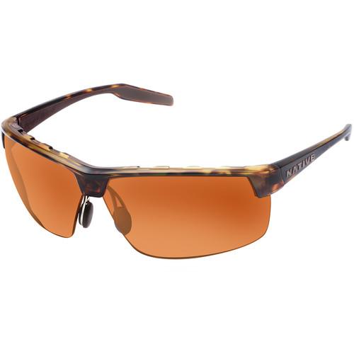 Native Eyewear Hardtop Ultra XP Sunglasses (Desert Tortoise Frame, Green/Brown Reflex Lens)