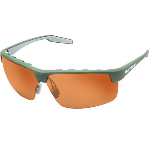 Native Eyewear Hardtop Ultra XP Sunglasses (Fraser Green/Dark Gray Frame, Brown Lens)