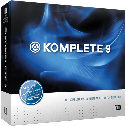 Native Instruments Komplete 9 - Virtual Instruments and Effects Collection (Educational Institution Discount - Add-On License)