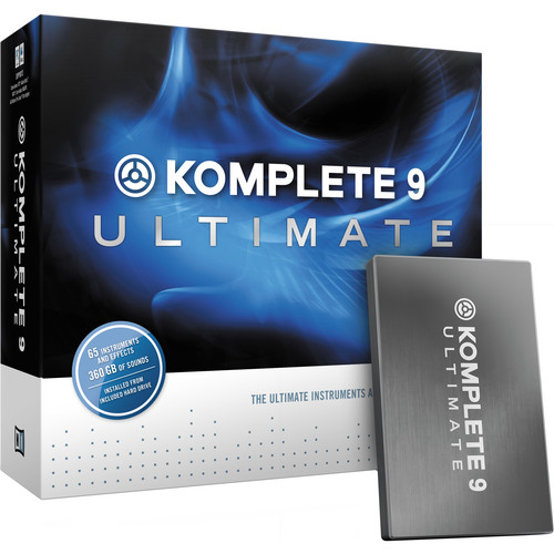 Native Instruments Komplete 9 Ultimate - Virtual Instruments and Effects Collection (Educational Institution Discount - 5 Station Lab Pack)